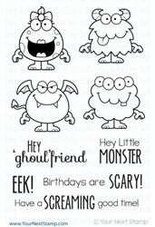 Silly Monsters 2 Clear Stamp Set from Your Next Stamp                 Seven Kids College Fund                   $13.99