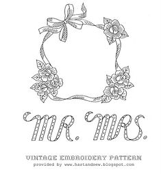 Free vintage embroidery pattern.