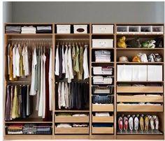 New wardrobe models from ikea – Bedroom storage Ikea Pax Closet, Ikea Pax Wardrobe, Wardrobe Storage, Bedroom Wardrobe, Bedroom Closet Design, Closet Designs, Bedroom Storage, Home Bedroom, Wardrobe Internal Design