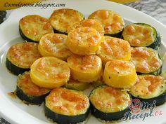 Zucchini Pommes, Zucchini Slice, Zucchini Fries, Healthy Dinner Recipes, Vegetarian Recipes, Snack Recipes, Healthy Cooking, Mushroom Recipes, Vegetable Recipes