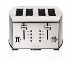KRUPS KH734D50 Breakfast Set 4-Slice Toaster with Brushed and Chrome Stainless Steel Housing, Silver - http://sleepychef.com/krups-kh734d50-breakfast-set-4-slice-toaster-with-brushed-and-chrome-stainless-steel-housing-silver/