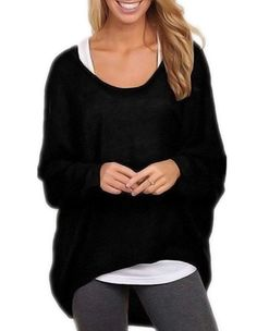 Large t-Shirt Batwing Long Sleeves Casual Loose Top Pullover. Yours is here: https://ecolo-luca.com/collections/clothing/products/large-t-shirt-batwing-long-sleeves-casual-loose-top-pullover