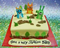 Cake With Joules Burpy And Boon Doc Slugterra Theme Birthday  cakepins.com
