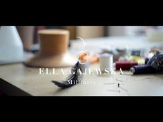 Here is a short but charming look at the construction of a handmade hat by London based milliner Ella Gajewska. Enjoy!