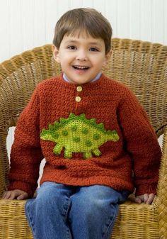 Chaquetas de ganchillo para niños: fotos ideas - Jersey tejido a ganchillo para niños