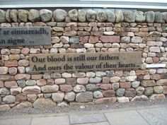 Culloden Battlefield - Our blood is still our fathers and and ours the valour of their hearts...