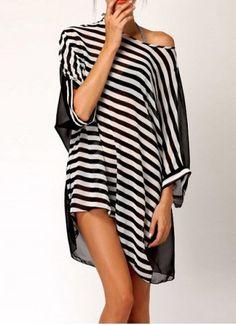 Navy Style Halterneck Striped Bow Tie Women's SwimwearSwimwear | RoseGal.com