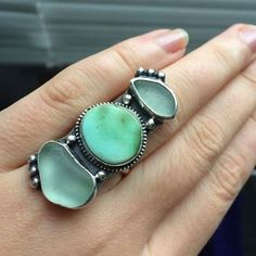 Thank you for sharing this pic of your Odysea ring! // Some Odysea combos were just listed in the shop! Mermaid Jewelry, Ocean Jewelry, Mermaid Necklace, Tribal Necklace, Sea Glass Jewelry, Jewelry Rings, Jewelry Box, Jewelery, Jewelry Making