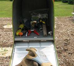 Mailbox garden shed