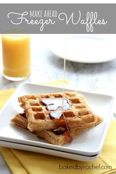Make Ahead Freezer Waffles