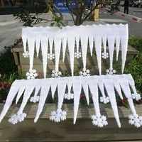 Cheap christmas decorations, Buy Quality christmas decoration supplies directly from China decoration christmas Suppliers: 2 Pcs White Ice Strip With Snowflake Christmas Xmas Decoration Ornament Festival Party Christmas Decoration Supplies Office Christmas Decorations, Snowflake Decorations, Diy Party Decorations, Frozen Decorations, Foam Christmas Ornaments, Christmas Snowflakes, Hanging Ornaments, Winter Wonderland Decorations, Winter Wonderland Christmas