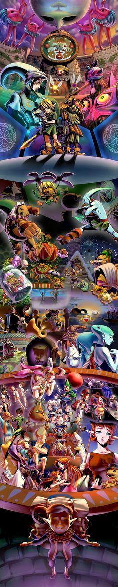 The Legend of Zelda: Majora's Mask / Young Link, Tatl, Skull Kid, and etc. 「ムジュラの仮面3D発売! | #MM3D