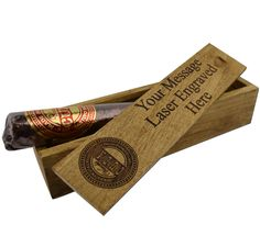 Personalised chocolate cigar case, laser engraved with your name or message, the cigar is an Italian Venchi truffle, Mmmm £9.00