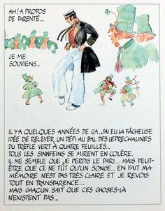 Corto Maltese and Leprechauns (Limited Edition Print) art by Hugo Pratt