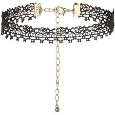 New Look Black Lace Skinny Choker ($5.27) ❤ liked on Polyvore featuring jewelry, necklaces, chokers, accessories, collares, black, collar necklace, choker jewelry, collar jewelry and choker necklace