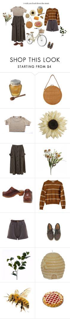 """Farmers market honey"" by sam-penzance ❤ liked on Polyvore featuring Chunk, Serpui, Pier 1 Imports, Abigail Ahern, Samuji, Dr. Martens and Wyld Home"