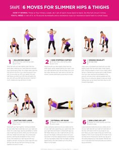 6 moves for hips and thighs