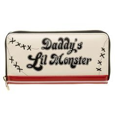 Suicide Squad Harley Quinn Daddy's Little Monster - Zip Wallet