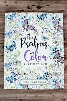 "The Psalms in Color is inspired by the ever-new and everlasting book of Psalms. Reflect on the beautiful Scriptures while coloring in the exquisite designs. 11"" Tall x 8.5"" Wide x 5"" Deep * Perforated"