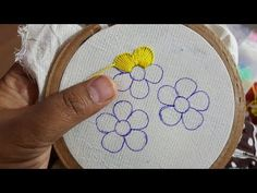 Hand Embroidery With lawn Cotton Shirt Flower All Over Design - YouTube