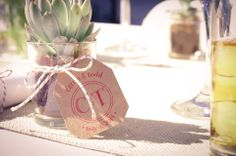 Perfect little succulent favors our customer made for her wedding. TheSucculentSource