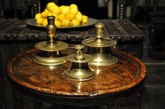 AN UNUSUALLY LARGE MID 16TH CENTURY BRASS CAPSTAN CANDLESTICK. CIRCA 1550.