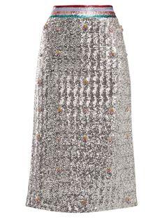 Sigma crystal-embellished sequin midi skirt | Mary Katrantzou | MATCHESFASHION.COM UK
