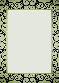 CARATULAS ESCOLARES: Ornamento Art Nouveau Fondo Claro
