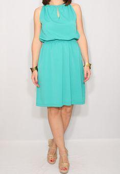Turquoise dress Mint dress Chiffon dress Short dress by dresslike