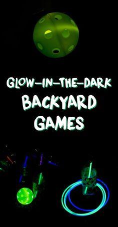 Glow-in-the-Dark Backyard Games - A Grande Life Glow-in-the-Dark Backyard Games - A Grande Life<br> Outdoor Party Games, Backyard Games, Outdoor Parties, Backyard Camping, Outdoor Fun, Backyard Ideas, Camping Games, Camping Car, Camping Activities
