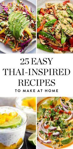 25 Easy Thai-Inspired Recipes You Can Make at Home via @PureWow via @PureWow