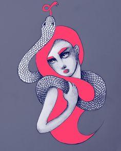 Healthy. #illustrator #illustration #illustrationartists #draw #drawing #design #mood #monday #agency #freelance #editorial #pencil #print #London #shoreditch #hackney #snake #flu #inspiration #colours #creative #minerva #mimihavingfun by m__i__n__e__r__v__a