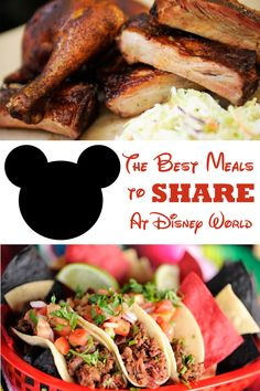 The Best Meals You Can Split or Share at All Four Parks At Disney World (and sharing Pizza's at Disney Resorts)