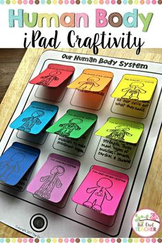 iPad Craftivity Help your students explore the nine different human body systems with this engaging iPad Crafitivity in your science classroom and differentiate it! Middle School Science, Elementary Science, Science Classroom, Science Fair, Science Lessons, Science Education, Science For Kids, Science Activities, Science Projects