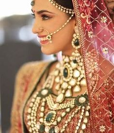 indian bride| traditional Indian jewellery| indian wedding jewellery| wed me good| indian weddings| indian brides | nath | mattapathi| polki necklace| delhi bride | bridal look| Indian Bridal Jewellery