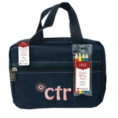 50% OFF! Blue & Pink CTR with Daisy Scripture Bag