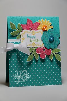 Stampin' Up! Birthday Card by Yvette A.: Secret-Garden-Birthday-YLA