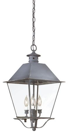 "View the Troy Lighting FCD9139 Montgomery 4 Light 25"" Outdoor Lantern Pendant with Seedy Glass at LightingDirect.com."