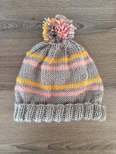 Free Striped Hat Knitting Pattern - On Craftsy
