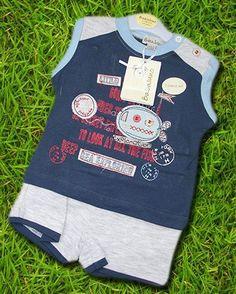Babulino, Set T-Shirt + Shorts, Gr.68, Jungen