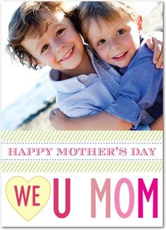 Contemporary Chic - Mother's Day Greeting Cards - Design Collective - Begonia - Pink : Front