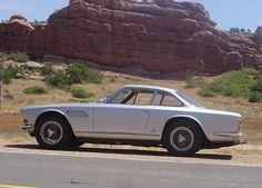 My old Maserati Sebring. Motor based on the 250F GP car and the 300S sports car (suitably tamed for the street). Body by Vignale. Converted from Lucas FI to triple Weber 45 DCOEs... Such a great noise with all six venturis wide open!