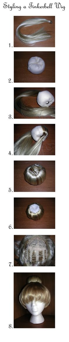 Tinkerbell Wig Tutorial by vampirate777.deviantart.com on @deviantART