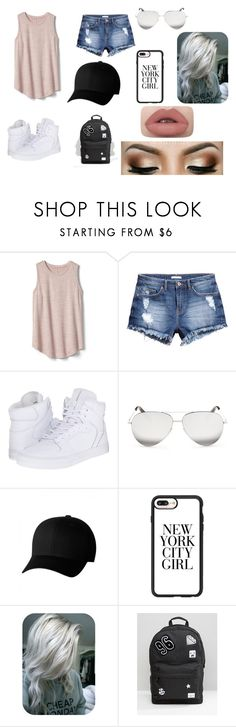 """New York City girl - Brooklyn outfit"" by manelrmn on Polyvore featuring mode, Gap, H&M, Supra, Victoria Beckham, Flexfit, Casetify et Spiral"