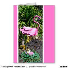 Flamingo with Nest Mailbox Card   #Tropical bird #Hawaii http://www.zazzle.com/flamingo_with_nest_mailbox_card-137073538306431965?design.areas=%5Bcard_5x7_outside_print_front%2Ccard_5x7_outside_print_back%2Ccard_5x7_inside_print_side1%2Ccard_5x7_inside_print_side2%5D&rf=238577061362460707