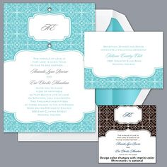 David's Bridal has great prices on invites! Deluxe - Pool - Invitation