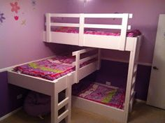 Three Little Ladies...: Triple Bunk Beds