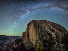Dome Light / Half Dome's Diving Board, Yosemite National Park (by Matthew Saville)