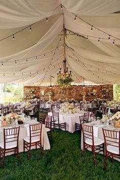 Gallery: rustic backyard tented wedding reception decor ideas - Deer Pearl Flowers