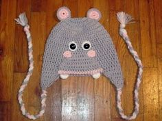 My friend crochet this hippo hat...